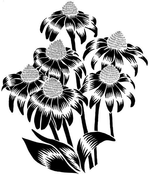 fleurs black
