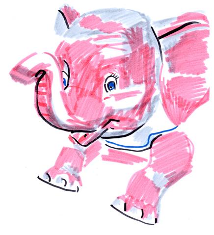 jeanne-louise-dessins-elephantrose